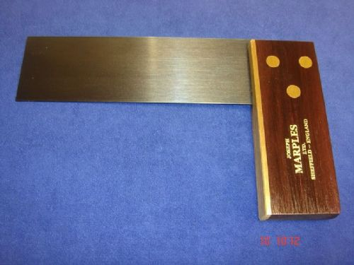 "Joseph Marples Rosewood Carpenters Try Square 152mm 6"" Brass Sheffield 19D"